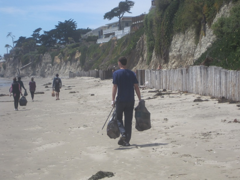 Beach Clean-up on Del Playa Beach